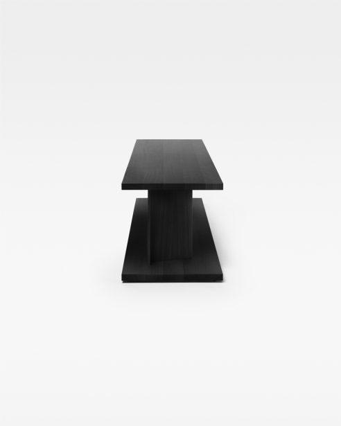 bit side table BLACK STAINED OAK