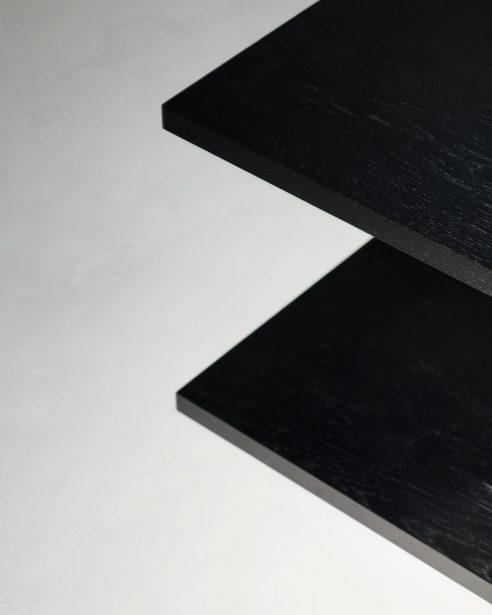 bit table BLACK STAINED OAK